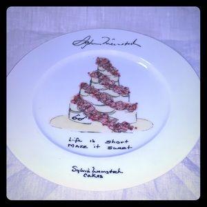 SYLVIA WEINSTOCK Felissimo Dessert Plate NWT